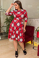 Платье батал / французский трикотаж / Украина