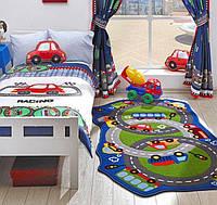 Ковер в детскую комнату Confetti 100*165 - Circle Track зеленый