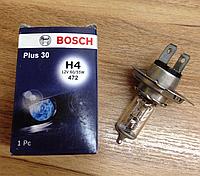 Автомобильная лампа BOSCH H4 12V 60/55W Plus 30, 1 987 302 042