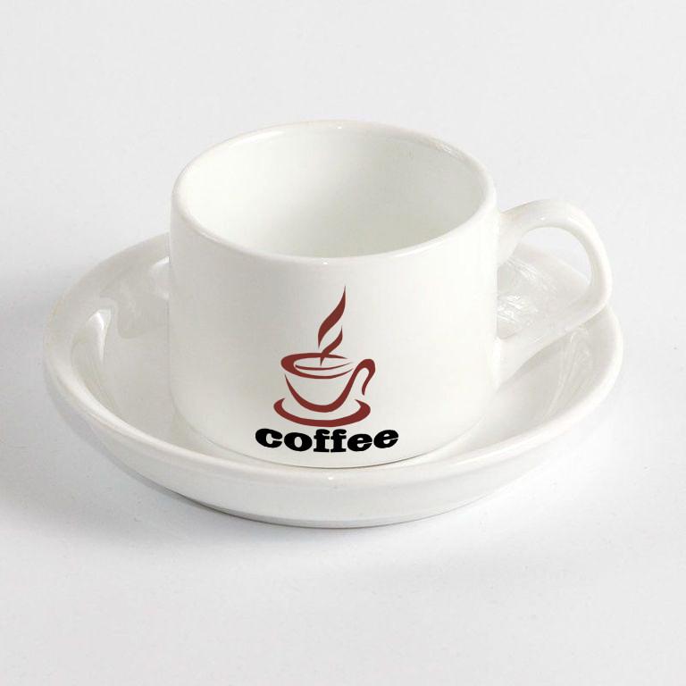 Чашка кофейная с блюдцем.