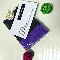 Силиконовые расчески (щётки) 50 шт в упаковке - фиолетовые