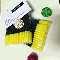 Силиконовые расчески (щётки) для ресниц - жёлтые