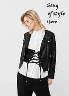 Байкерская куртка с молниями от MANGO