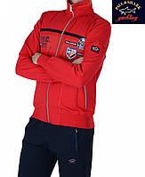 Спортивный мужской костюм Paul&Shark красный ,качество lux .