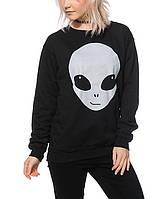 Свитшот женский с принтом A-Lab Glow In The Dark Alien Face Кофта
