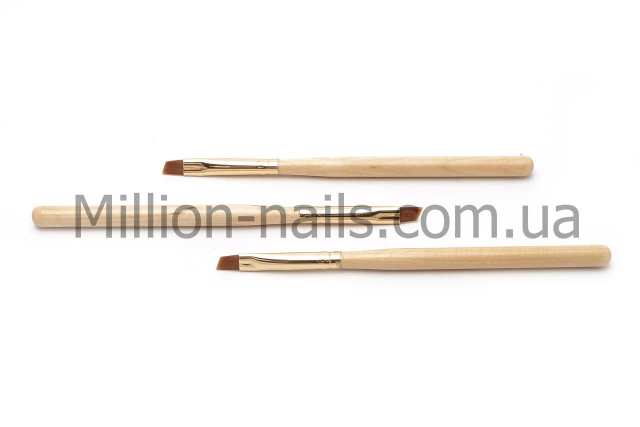 Кисти для геля №8, деревяная ручка