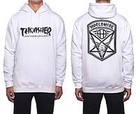 Толстовка Thrasher белая | Thrasher worldwide (реплика)