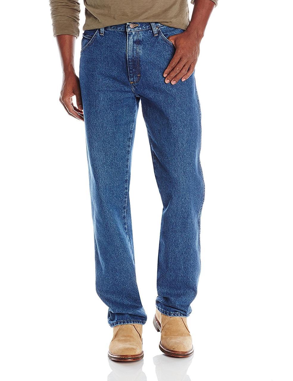 Джинсы Wrangler Regular Fit Straight Leg, Stonewash Mid, 36W34L, ZM100SW