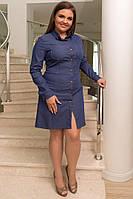 Платье - рубашка батал / джинс / Украина