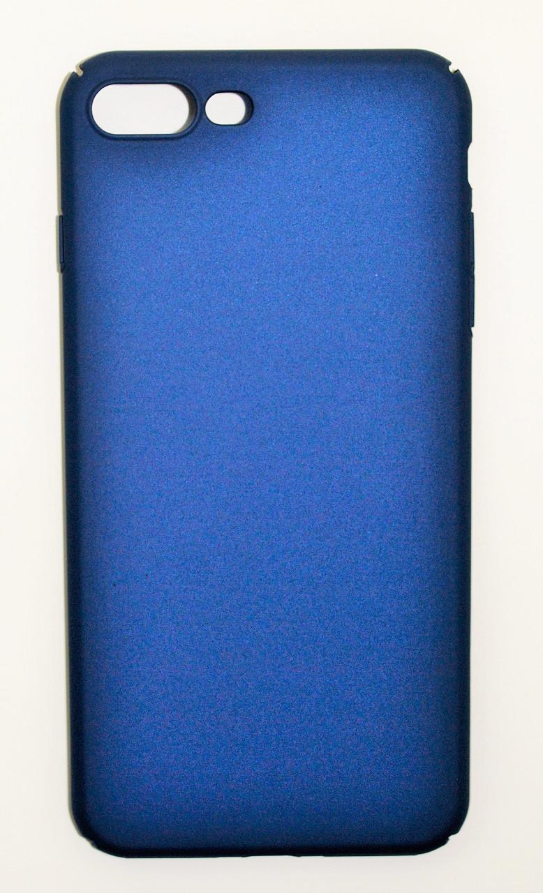 Чехол на Айфон 7 Плюс PC Soft Touch матовый Пластик Синий
