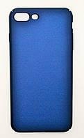 Чехол на Айфон 8 Плюс PC Soft Touch матовый Пластик Синий
