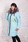 Женское зимнее пальто с мехом 2017-2018 - (модель кт-165), фото 2