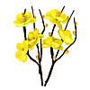 Цветочки декоративные Веточка вишни желтая, тканевые, 2 шт/уп