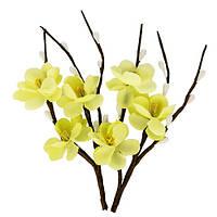 Цветочки декоративные Веточка вишни кремовая, тканевые, 2 шт/уп