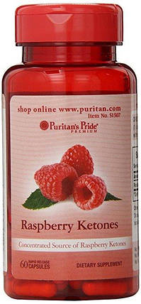 Жіросжігателя Puritan's Pride Raspberry Ketones 100 mg 60 Capsules, фото 2