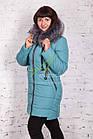 Женское пальто от производителя батальных размеров зима 2017-2018 - (модель кт-170), фото 3