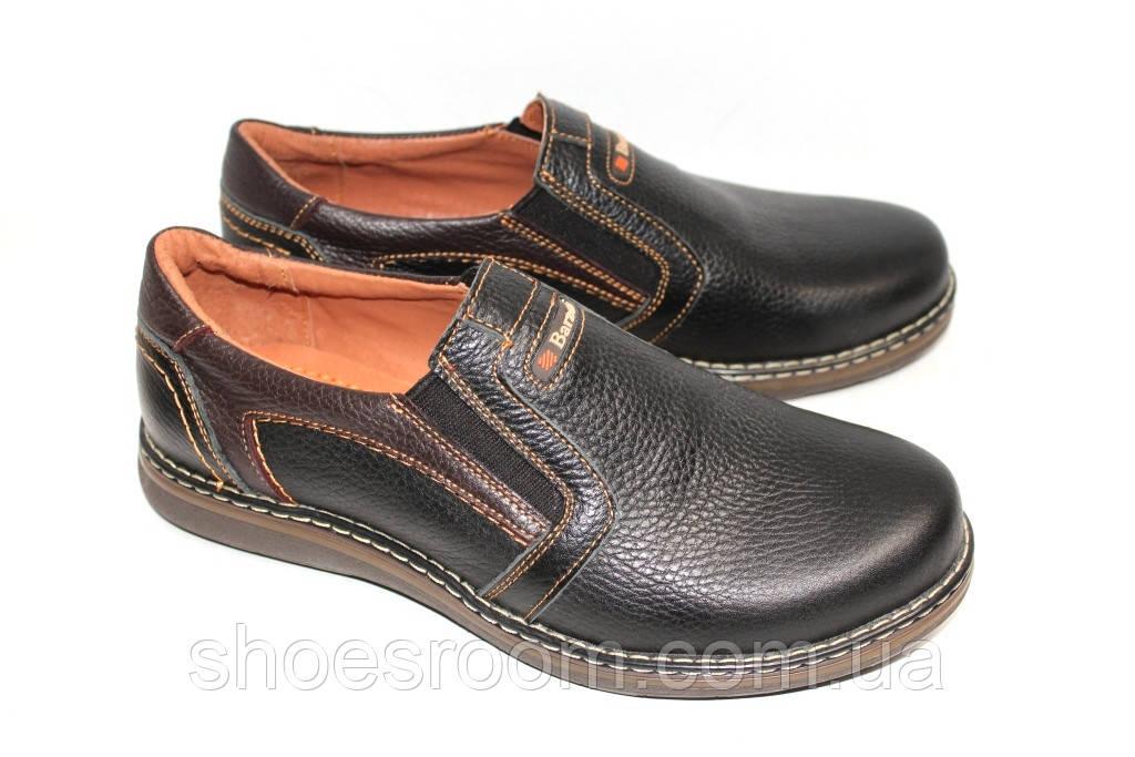 14e841825 Кожаные туфли мужские, М11, цвет черно-коричневый глянец: продажа ...