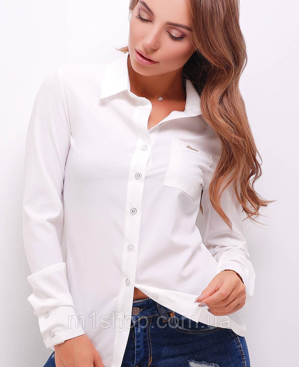 Женская классическая блузка-рубашка (1741  mrs)