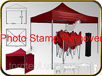 Шатер торговый 2х2 Красный,Черный метал шатер садовый(ШАТЕР УСИЛЕННЫЙ АФГАНИСТАН)