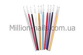 Набор кистей для рисования ногтей, 12 штук
