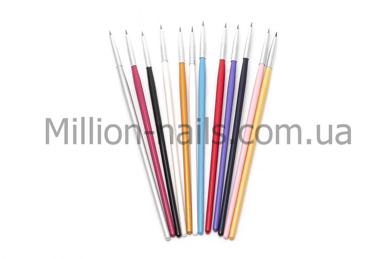 Набор кистей для рисования ногтей, 12 штук , фото 1