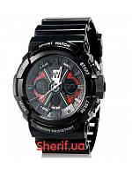 Часы спортивные армейские Skmei 0966 Black BOX 0966BOXBK