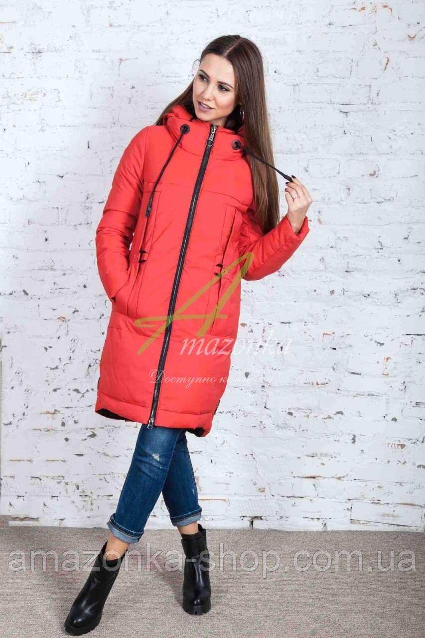 Длинное женское пальто сезона зима 2017-2018 - (модель кт-179)