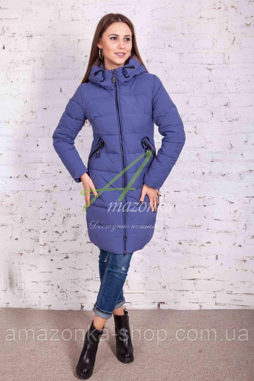 Удлиненное женское пальто сезона зима 2017-2018 - (модель кк-3)