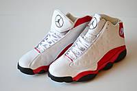 Кроссовки баскетбольные Nike Jordan бело-красные. 43.5-44р. Сток, ретро.