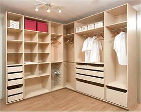 Гардеробные комнаты по индивидуальным размерам на заказ