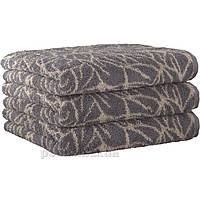Махровое полотенце Cawoe Brilliant Bluten 607-37 kiesel 50х100 см