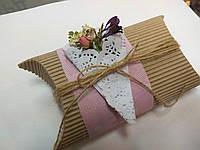 Упаковка с декором из живых цветов, фото 1