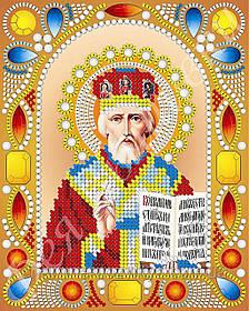 """Схема для вышивки бисером икона """"Святой Николай Чудотворец"""" (комплектация жемчугом и камнями)"""