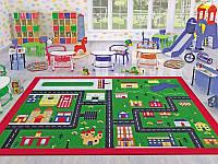 Ковер в детскую комнату Confetti 133*190 - Town зеленый