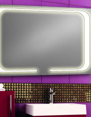 Зеркало с LED подсветкой настенное d-59 1200х800 мм, фото 2