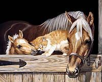 "Алмазная мозаика ""Лошади"", картина стразами 50*40см"