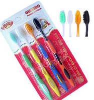 Зубная щетка Бамбуковая Nano Mix 4шт/упак