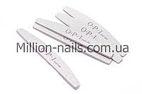 Пилка для ногтей OPI  полукруг 100/180, серая