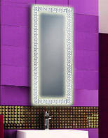 Зеркало с LED подсветкой настенное d63 500х1200 мм Лед