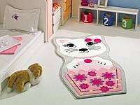 Ковер в детскую комнату Confetti 80х150 - Kitty розовый