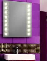 Зеркало с LED подсветкой настенное d25 для ванной комнаты 600х700 мм