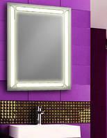 Зеркало с LED подсветкой настенное d17 для ванной комнаты 600х800 мм Лед