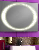 Зеркало с LED подсветкой 900х700мм d31 (настенное зеркало) Лед