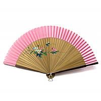 Веер бамбук с шелком 21см  (24666AA)