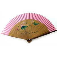 Веер бамбук с шелком 21см  (24666ZZ)