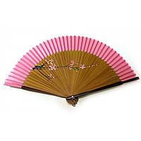 Веер бамбук с шелком 21см  (24666ZY)