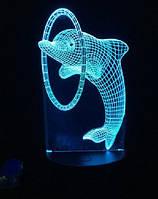 """LED ночник / светильник """"Дельфин"""". Меняет 7 цветов"""