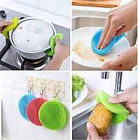 Губка силиконовая для мытья посуды. Прихватка. Скребок. Диск