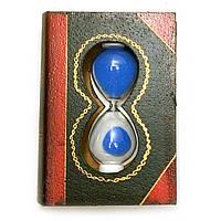 """Часы песочные """"Книга"""" синий песок 11х8х3,5см  (28808C)"""