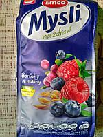 Мюсли хрустящие Emco Musli crunhy Blueberries and Raspberries 750 г ( Чехия ) с малиной и голубикой